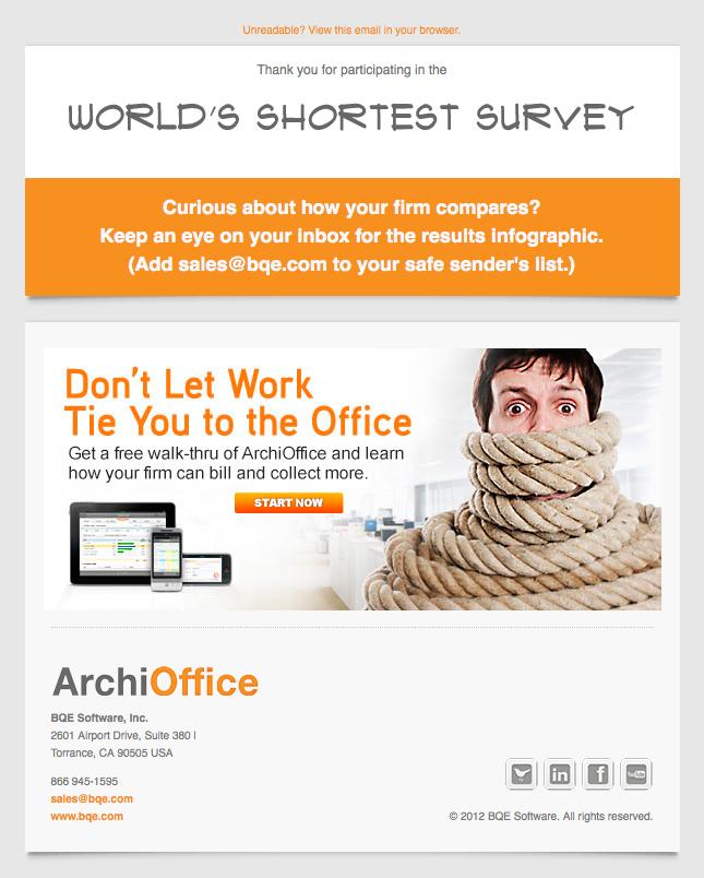 ArchiOffice World's Shortest Survey free walk thru email image