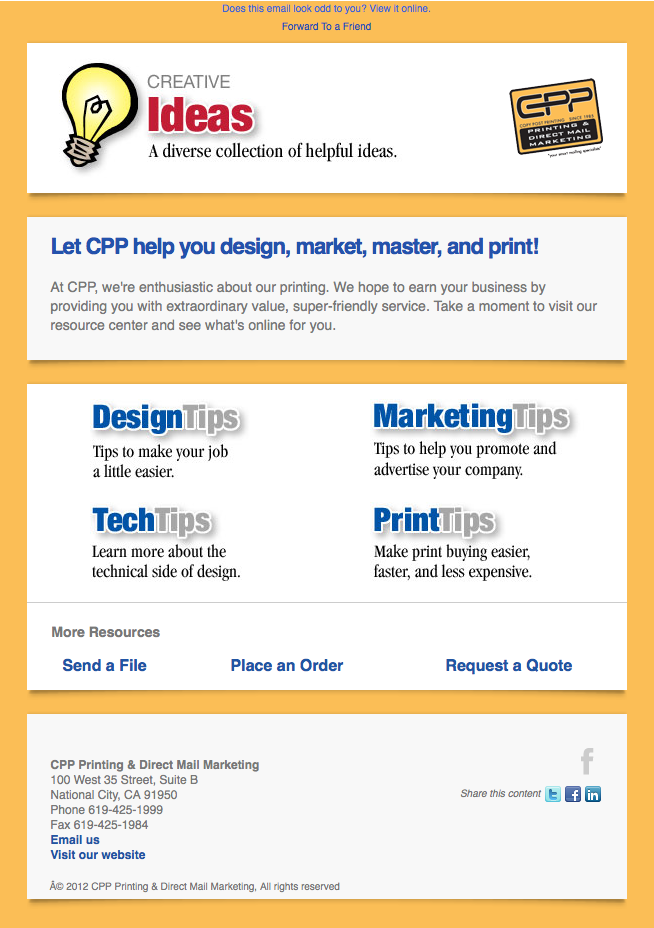 CPP Printing & Direct Mail Marketing email image