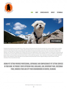 Dogma Pet Sitting WordPress website image
