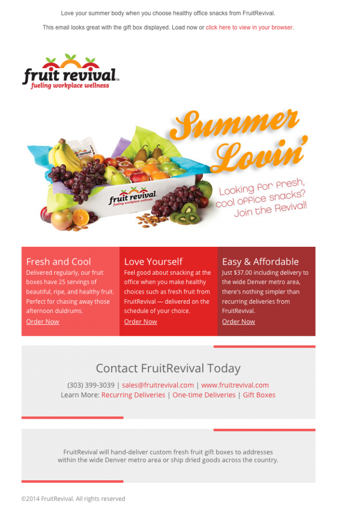 Fruit Revival Summer Lovin' email image
