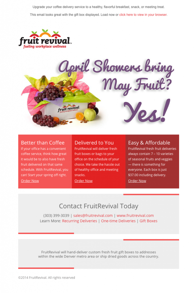Fruit Revival April Showers email image