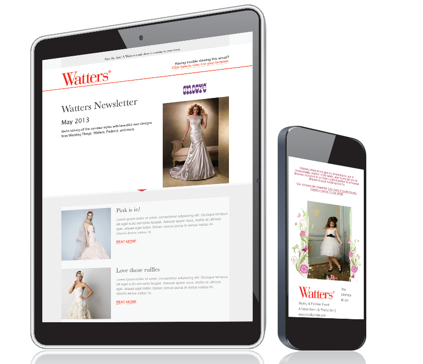 Spider Trainers' drip campaign for Watters Bridal image
