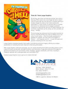 Lange Graphics' Trapped in Creative Hell insert image