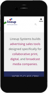 Lineup.com mobile website image
