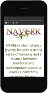 Naveek.net mobile website image