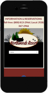 NorthwoodsAZ.com mobile website image