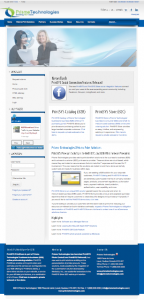 Prisme Technologies Joomla website image