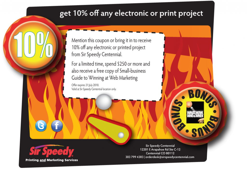 Sir Speedy coupon email 2 image
