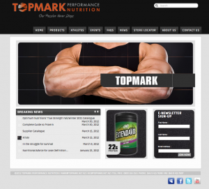 TopMark Performance Nutrition WordPress website image