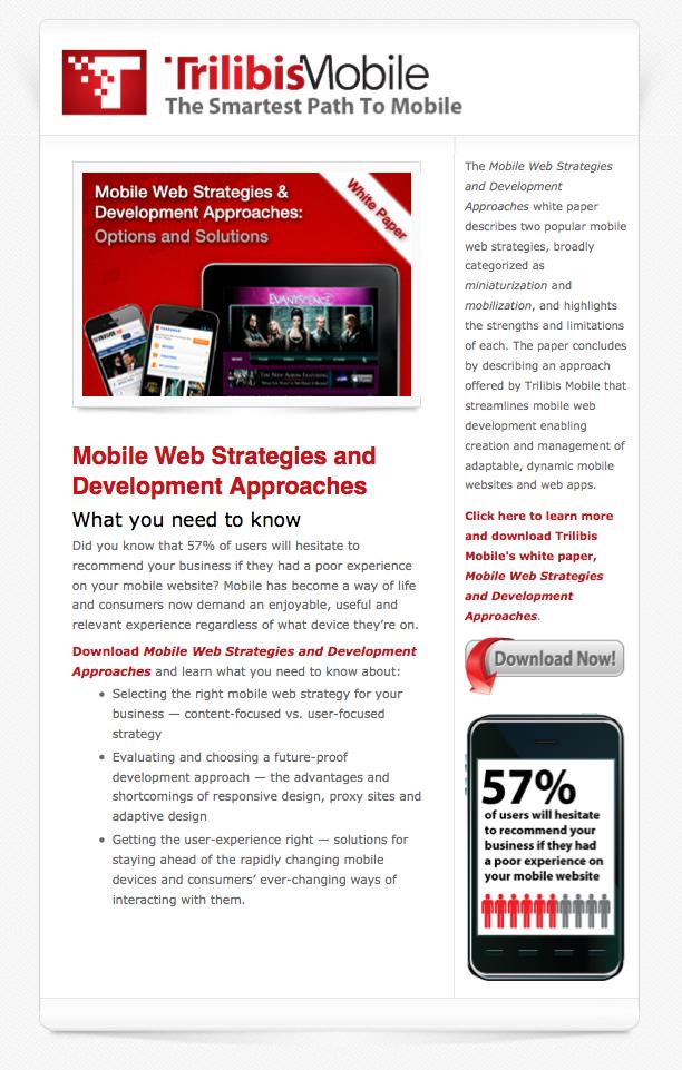 Trilibis Mobile email image