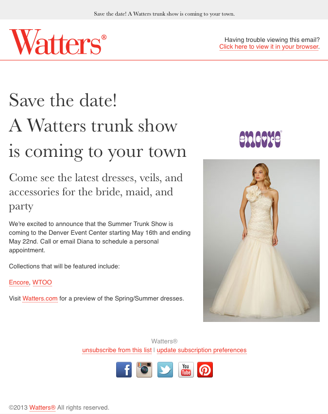 Watters Save the Date email image